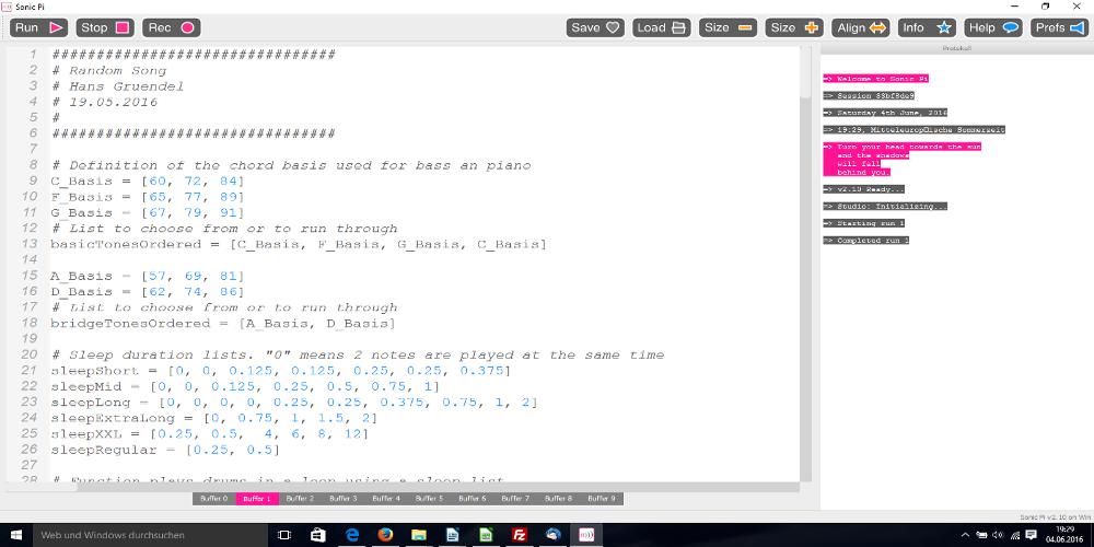 Programmieren …